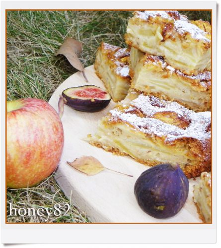 Torta cremosa di mele e fichi