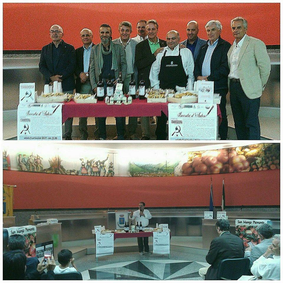 Incontro d'autore a San Mango Piemonte di spessore e di gusto con la presentazione del libro Terro(m)nia e la degustazione di prodotti all'annurca.
