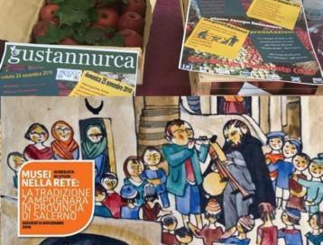 """Le mele di """"gustannurca"""" in bella mostra tra zampogne e ciaramelle a Palazzo di Città di Salerno."""